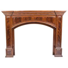 Superb Flame Mahogany Fire Surround Fireplace
