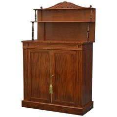 William IV Mahogany Chiffonier, Two-Door Sideboard