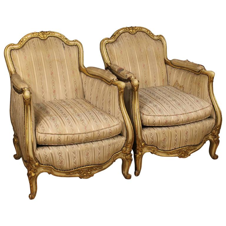 20th Century Pair of French Armchairs in Louis XV Style
