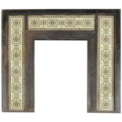 Arts and Crafts Cast Iron Fireplace Attributed to Dr C Dresser