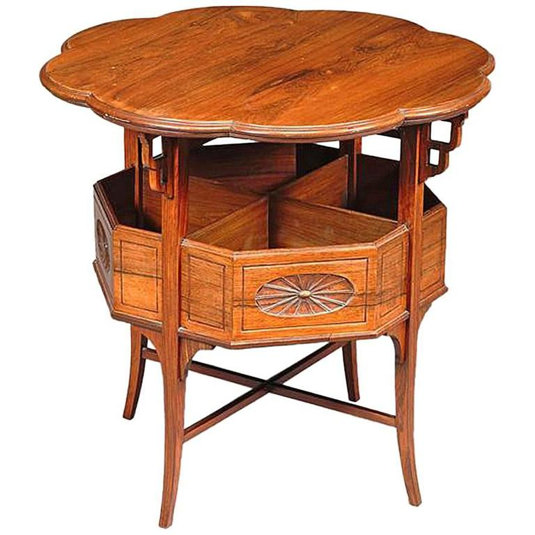Anglo-Japanese Rosewood Side Table, Attributed to E W Godwin