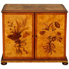 Marquetry Inlaid Collectors Cabinet
