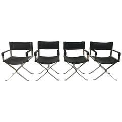 Set of Four Vintage Alessandro Albrizzi Directors Chairs