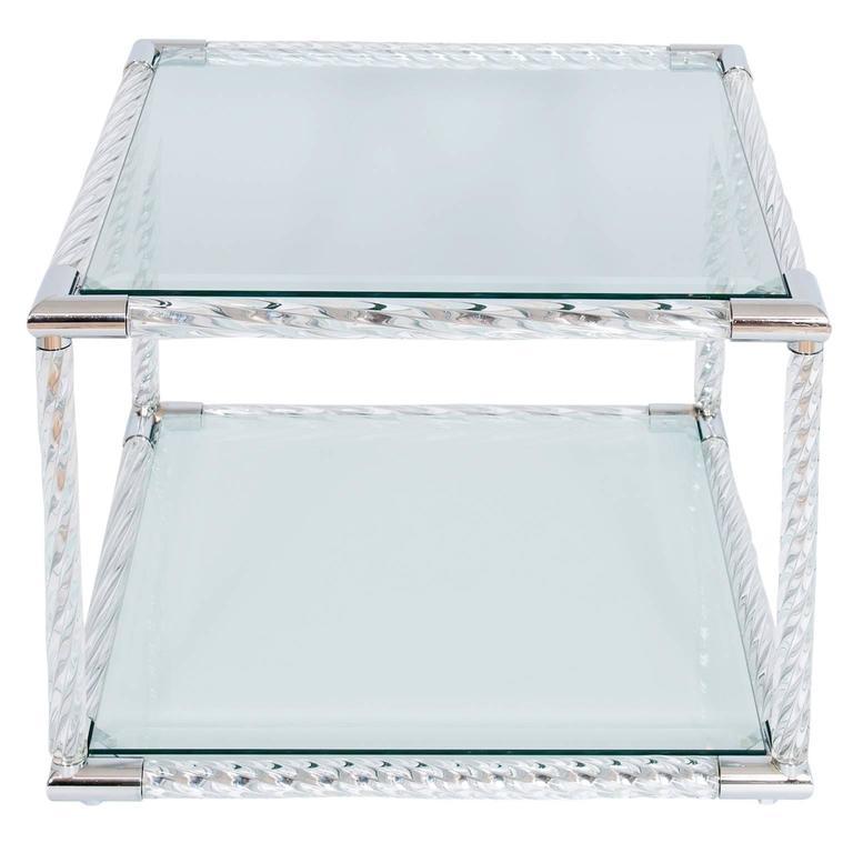 Italian Venetian Table In Murano Glass Circa 1980s For