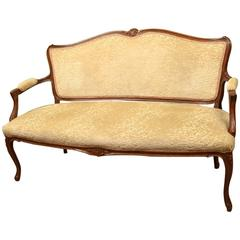 Antique French Walnut Sofa or Settee, circa 1900