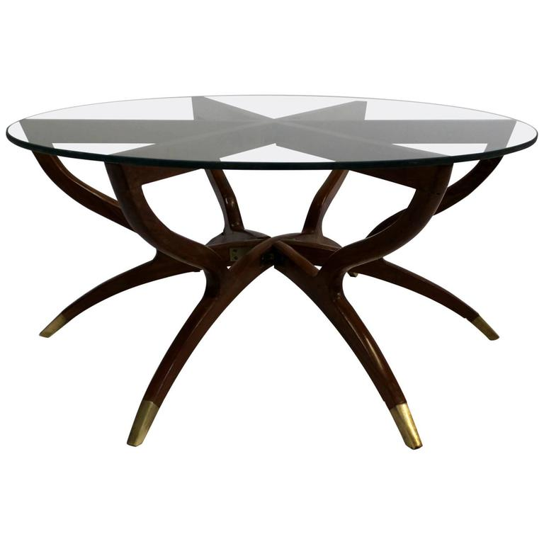 Mid Century Modern Style Coffee Table: Kagan Style Mid-Century Modern Collapsible Spider Leg