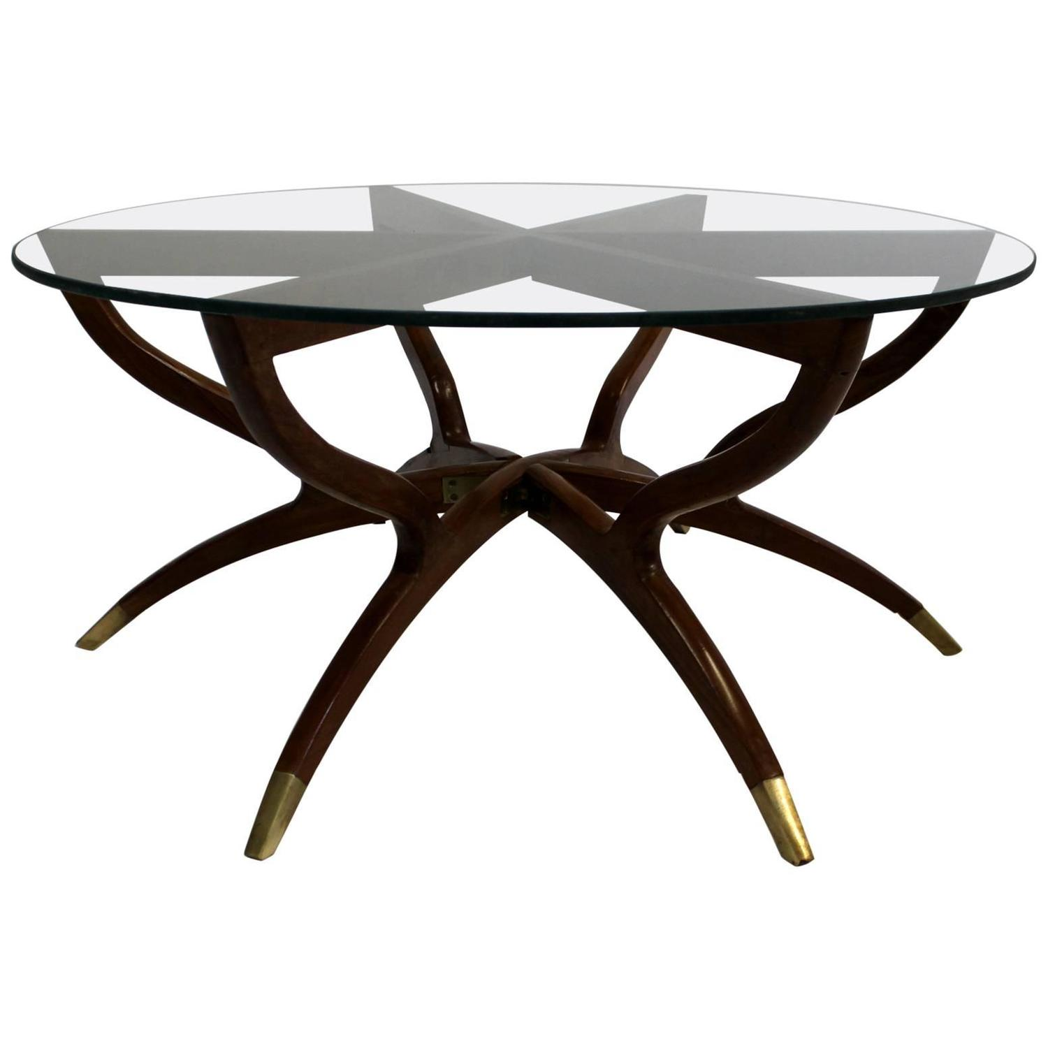 Kagan Style Mid Century Modern Collapsible Spider Leg Coffee Table