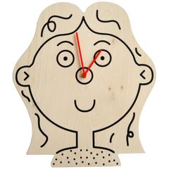 Girl Clock by Lawrence Slater in Birch Plywood, Contemporary