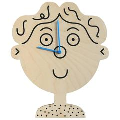 Boy Clock by Lawrence Slater in Birch Plywood, Contemporary