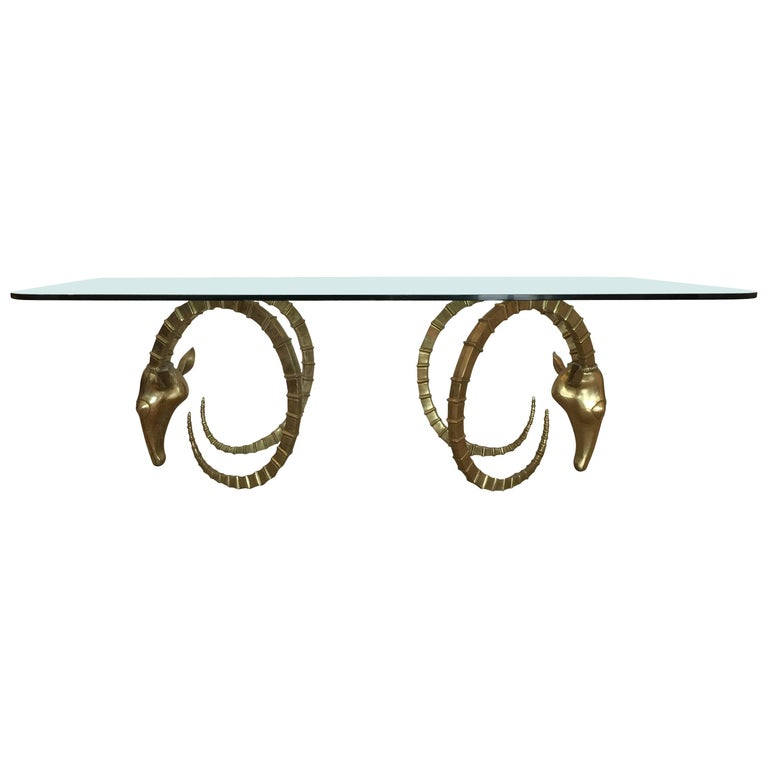 Sculptural Ibex Heads Table Attributed to Alain Chervet For Sale