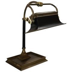 Antique Chapman Fist Bank Lamp