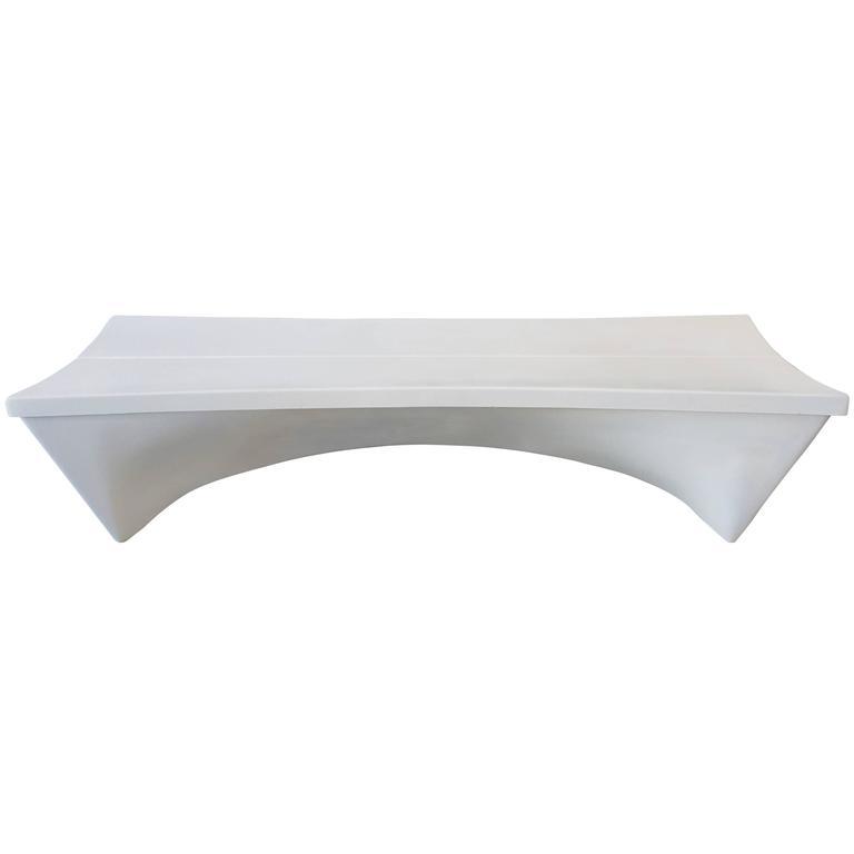 Fiberglass Garden Bench : Architectural fiberglass bench by douglas deeds at stdibs