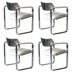 Mid-Century Modern Eero Aarnio Mobel Italia Chairs, Set of Four