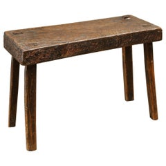 18th Century Rustic Stool from England