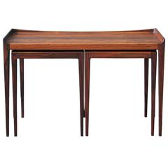 Scandinavian Jason Mobler Nesting Tables in Rosewood, Kurt Ostervig, 1958