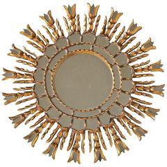 Sunburst Giltwood Spanish Colonial Wall Mirror