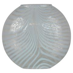 Bertil Vallien for Kosta Boda Opalescent Art Glass Zebra Vase