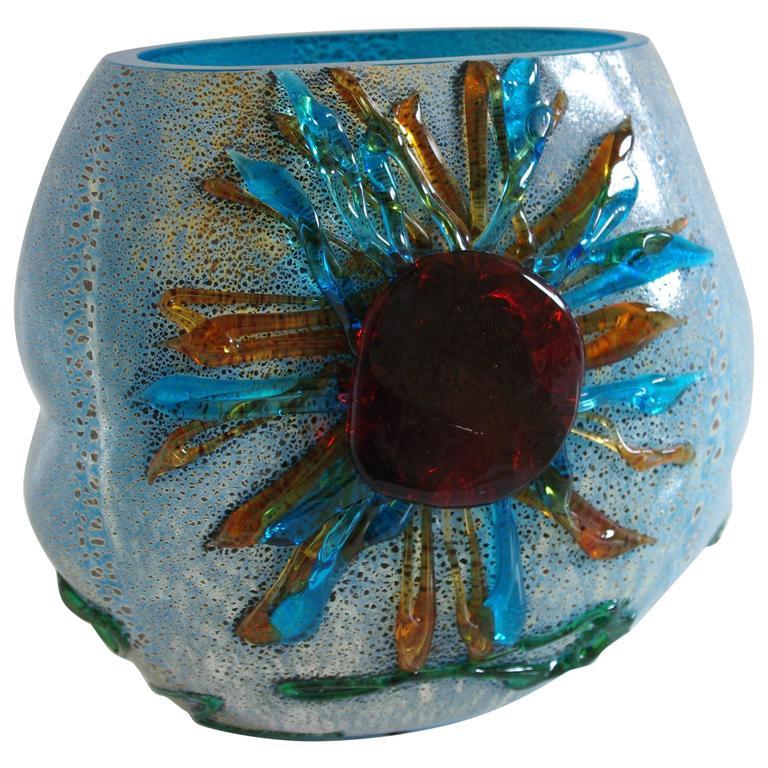 Italian Murano Glass Sun Vase