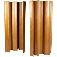 Pair of 1958 Birch Folding Screens by Ray and Charles Eames