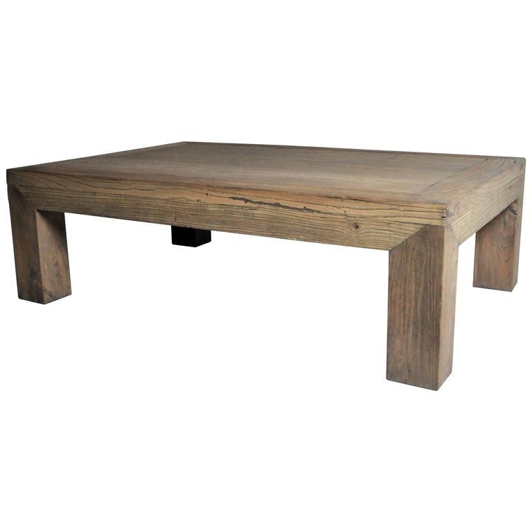 GT Atelier Modern Low Rectangular Table in Natural Elmwood