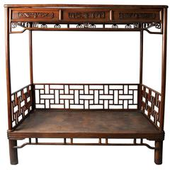 Chinese Elmwood Bed