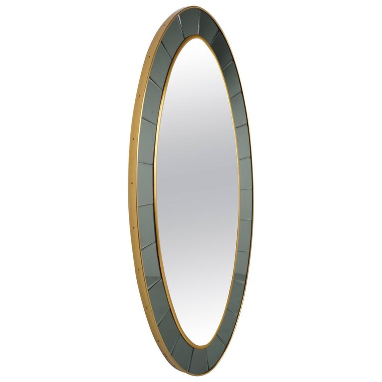 Full Length Oval Mirror by Cristal Art