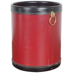 Jacques Adnet Style Trashcan