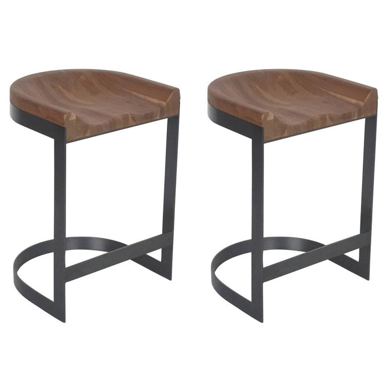 Walnut Saddle Stools 1