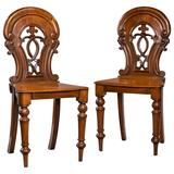 Pair of Early Victorian Hall Chairs
