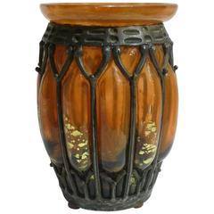 Louis Majorelle, Daum Nancy, an Art Deco Vase, Signed
