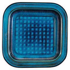 Wilhelm Kåge Turquoise Farsta Plate, Sweden, 1931