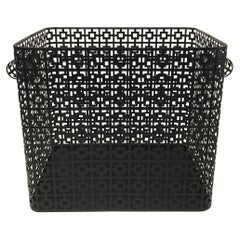 Striking Galvanized Steel Wastepaper Basket