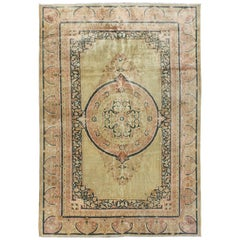 Antique Persian Khorasan Rug with Ornate Medallion and Intricate Borders