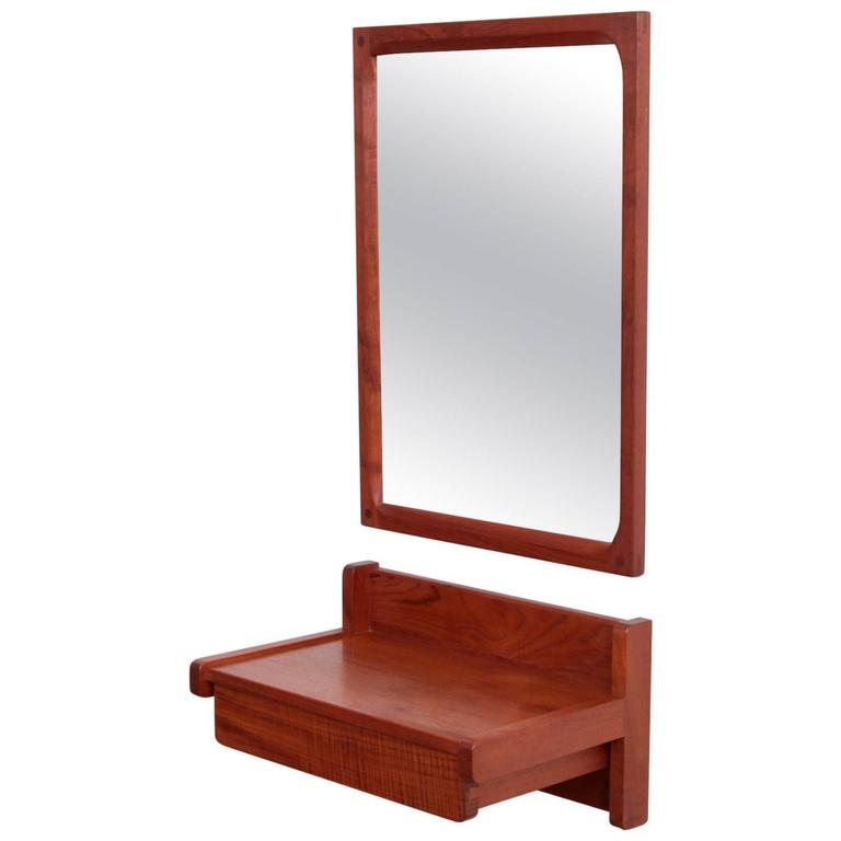 Aksel Kjersgaard Set of Mirror and Drawer in Teak for Odder Denmark