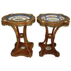 Pair 19th Century French Sèvres style Porcelain Tables