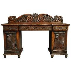 19th Century Anglo-Indian Padouk Pedestal Sideboard of Superb Patina