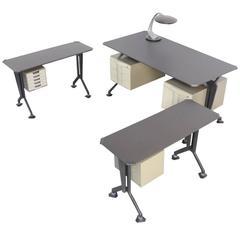 Mid-Century Italian Arco Series Desk by Studio BBPR for Olivetti