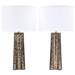 Rare Italian Murano Pair of Lamps