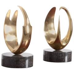 Set of Abstract Organic Bronze Sculptures