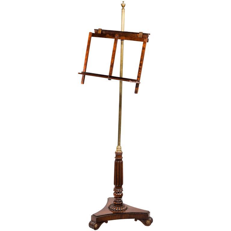 regency period music stand for sale at 1stdibs. Black Bedroom Furniture Sets. Home Design Ideas