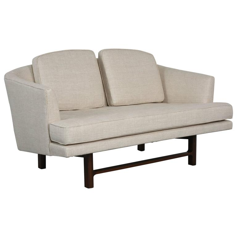 Edward Wormley for Dunbar Settee with Mahogany Base, 1950s