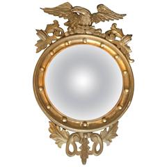 Giltwood Convex Mirror, circa 1900s