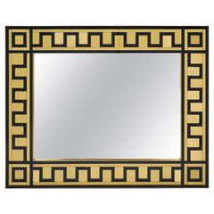 Murano Glass and Brass Mirror