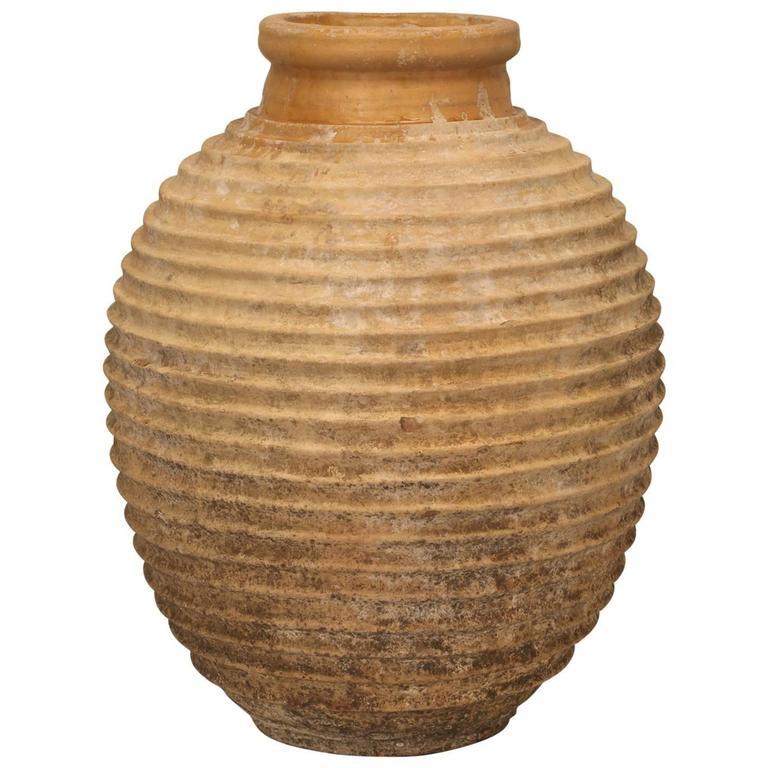 large antique european fluted terra cotta pot for sale at. Black Bedroom Furniture Sets. Home Design Ideas