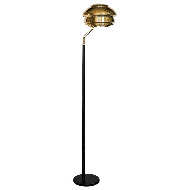 Early Alvar Aalto, Floor Lamp, Model A808, by Valaistustyö Ky, 1950s
