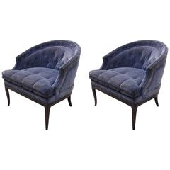 Pair of Labeled Widdicomb Lounge Chairs, by T.H. Robsjohn-Gibbings