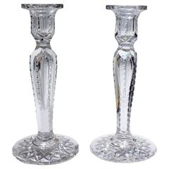 Pair of Fine American Brilliant Period Cut Glass Candlesticks or Candleholders