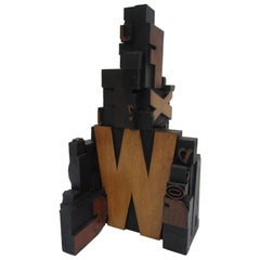Letterpress Wood Block Sculpture