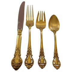 Royal Dynasty Gold by Kirk Stieff Sterling Silver Flatware Service Set, Vermeil