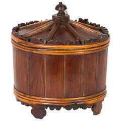 Wood Spice Bucket from Mid-19th Century Sweden